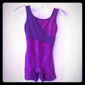 Capezio Future Star dance unitard leo purple Sz M